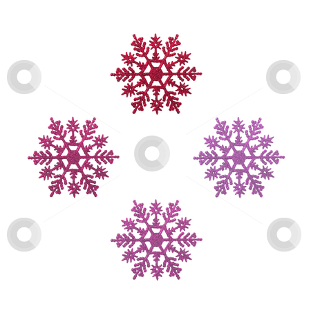 Christmas Decoration stock photo, Christmas ornaments shaped like snowflakes - seasonal decoration by Petr Koudelka