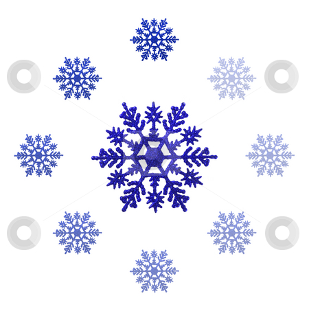 Christmas Decoration stock photo, Christmas ornaments shaped like snowflakes - seasonal decoration by Petr Koudelka