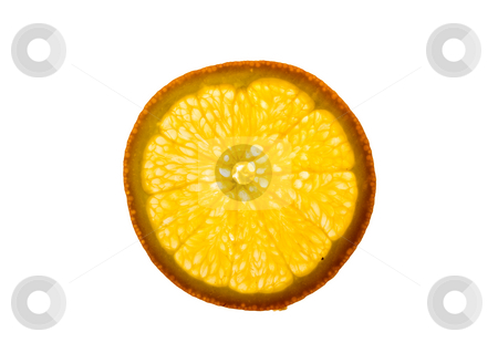 Sliced Orange stock photo, A backlit piece of sliced orange - healthy eating by Petr Koudelka