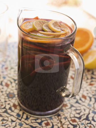 Jug of Sangria stock photo,  by Monkey Business Images