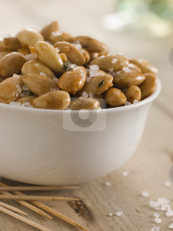 Sea Salt Roasted Almonds stock photo,  by Monkey Business Images