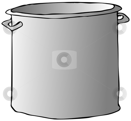 Cooking Pot stock photo, This illustration depicts a large aluminum cooking pot with handles. by Dennis Cox