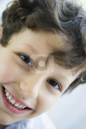 Portait of a Middle Eastern boy stock photo,  by Monkey Business Images