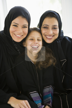 Three generations of Middle Eastern women stock photo,  by Monkey Business Images