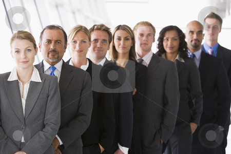 Line of office staff stock photo, Line of office staff looking to camera by Monkey Business Images