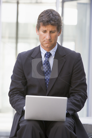 Businessman on computer stock photo,  by Monkey Business Images