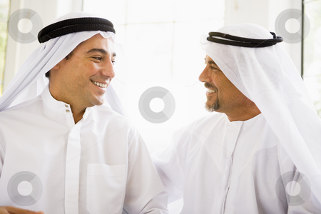 Two Middle Eastern men stock photo,  by Monkey Business Images