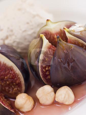 Roasted Figs with Hazelnut Cream stock photo,  by Monkey Business Images