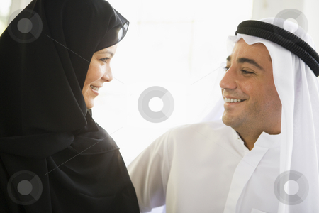 A Middle Eastern couple stock photo,  by Monkey Business Images