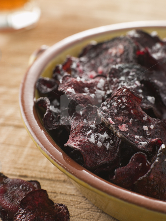 Beetroot Crisps with Sea Salt stock photo,  by Monkey Business Images