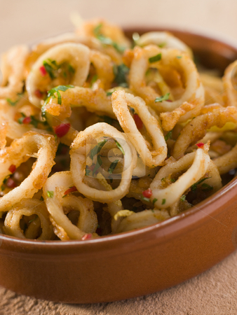 Calameres Frito- Deep Fried Squid Rings stock photo,  by Monkey Business Images
