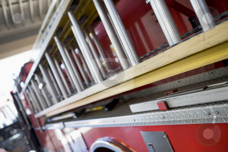 Detail of a fire engine stock photo,  by Monkey Business Images