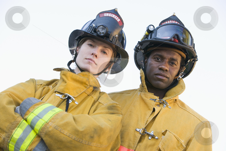 Portrait of firefighters stock photo,  by Monkey Business Images