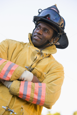 Portrait of a firefighter stock photo,  by Monkey Business Images