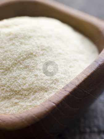 Dish of Ground Semolina stock photo, Close up of Dish of Ground Semolina by Monkey Business Images