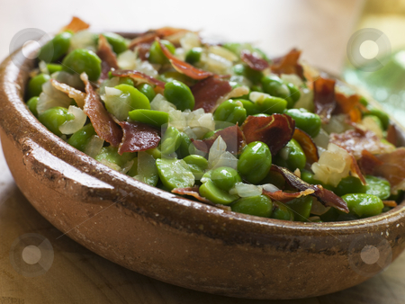 Baby Broad Beans and Ham- Jamon au Favas stock photo,  by Monkey Business Images