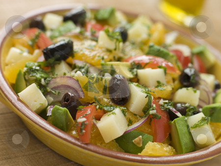 Bowl of Valencian Salad stock photo,  by Monkey Business Images