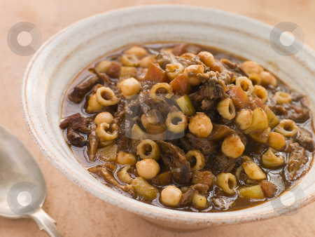 Oxtail and Chickpea Winter Soup stock photo,  by Monkey Business Images