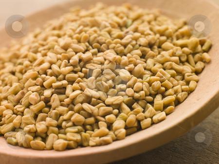 Dish of Whole Fenugreek stock photo, Close up of Dish of Whole Fenugreek by Monkey Business Images