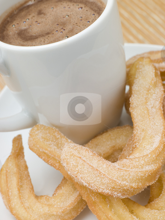 Churros and Hot Chocolate stock photo,  by Monkey Business Images