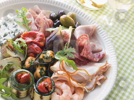 Platter of Antipasto stock photo,  by Monkey Business Images