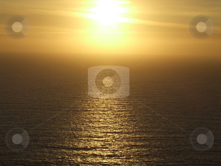 Ocean Sunset stock photo, Sunset over the Atlantic Ocean by Paul Lancaster