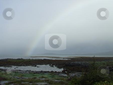 Rainbow over Galway Bay stock photo, Rainbow over Galway Bay by Paul Lancaster