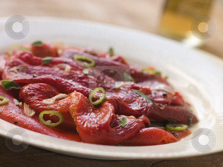 Marinated Roasted Capsicum with Garlic and Chili stock photo,  by Monkey Business Images
