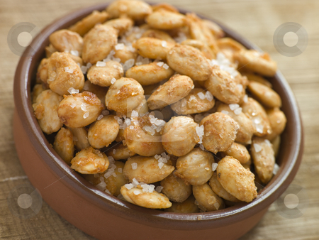 Spiced and Salted Macadamia Nuts stock photo,  by Monkey Business Images