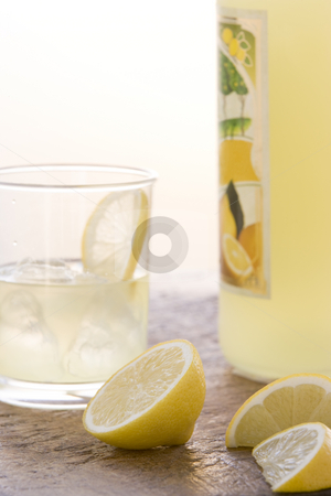Glass of Limoncello stock photo,  by Monkey Business Images