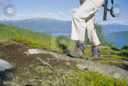 Close-up of woman hiking in the great outdoors,  stock photo,  by Monkey Business Images