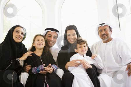 A Middle Eastern family stock photo,  by Monkey Business Images
