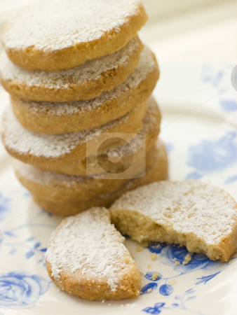 Stack of Polvorones Biscuits stock photo,  by Monkey Business Images