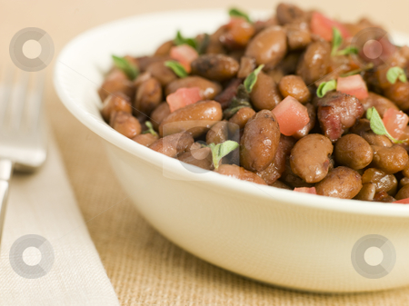 Borlotti Beans Braised in Red Wine stock photo,  by Monkey Business Images