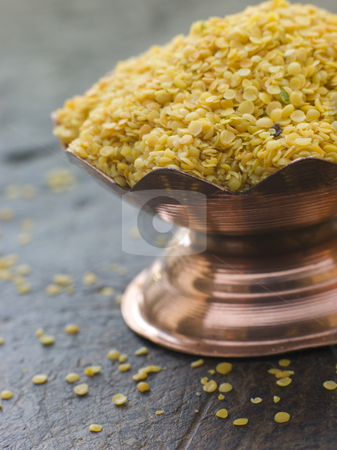Dish of Yellow Mustard Seeds stock photo, Close up of Dish of Yellow Mustard Seeds by Monkey Business Images