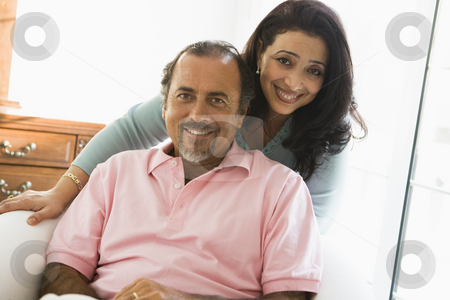 An older Middle Eastern couple stock photo,  by Monkey Business Images