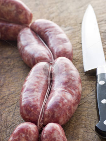 Tuscan sausage in Links stock photo,  by Monkey Business Images