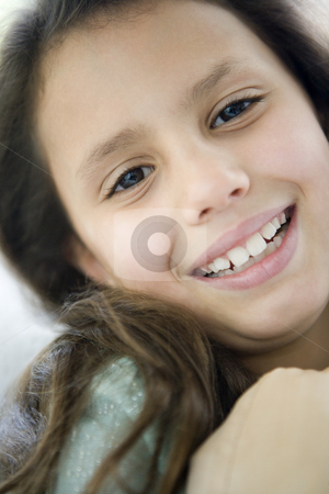 Portrait of a Middle Eastern girl stock photo,  by Monkey Business Images