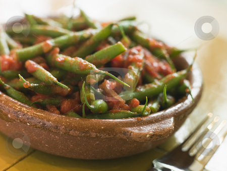 Green Beans with a Tomato Salsa stock photo,  by Monkey Business Images
