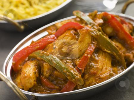 Chicken Jalfrezi Restaurant Style stock photo, Dish of Chicken Jalfrezi Restaurant Style by Monkey Business Images