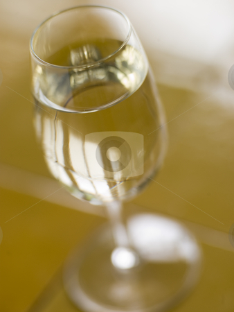Glass of Spanish Dry Sherry stock photo,  by Monkey Business Images