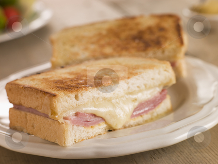 Croque Monsieur stock photo,  by Monkey Business Images