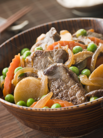 Simmered Beef Fillet and Vegetables stock photo, Bowl of Simmered Beef Fillet and Vegetables by Monkey Business Images