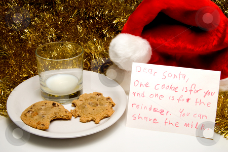 Christmas Cookies and Milk stock photo, Christmas Cookies and Milk by Robert Byron