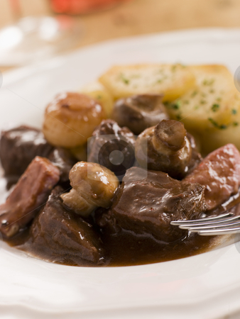 Boeuf Borguignon with Saute Potatoes stock photo,  by Monkey Business Images