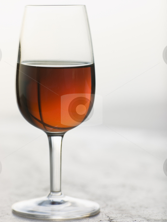 Glass of Sweet Marsala stock photo, Close up of Glass of Sweet Marsala by Monkey Business Images