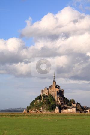 Mont-Saint-Michel stock photo, Le Mont-Saint-Michel in the daylight, side view by Tilo