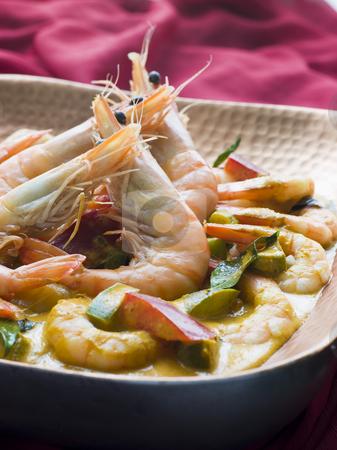 Malai King Prawn Curry stock photo, Dish of Malai King Prawn Curry by Monkey Business Images