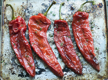 Roasted Romano Peppers stock photo,  by Monkey Business Images
