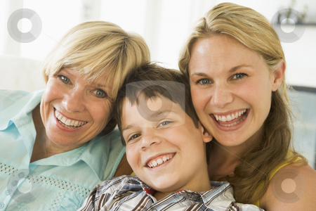 Mother with grown up daughter and son stock photo,  by Monkey Business Images